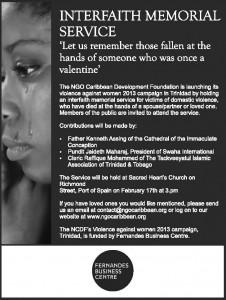 NCDF-Interfaith Memorial Service-Advert