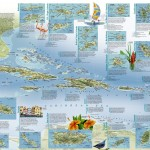Travelers Map of the West Indies side 2